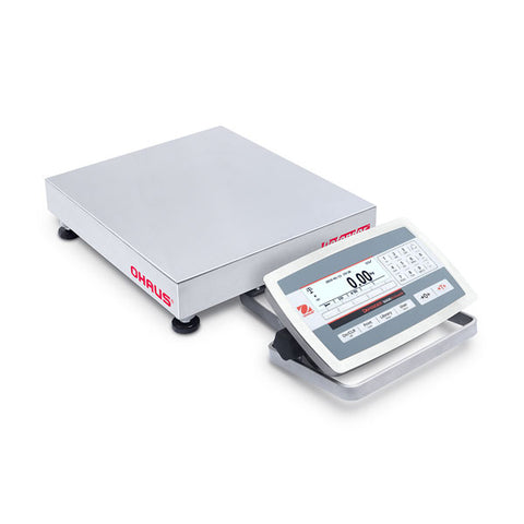 Ohaus Defender 5000 Washdown D52XW25WQR5 Bench Scale 25kg (50 lb.)  x 1 g (	0.002 lb) - Government Lab Enterprises