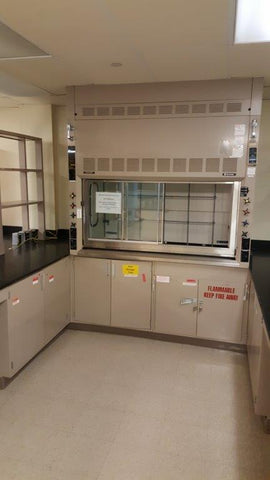 Hamilton SafeAire 6 foot chemical fume hood package - Government Lab Enterprises