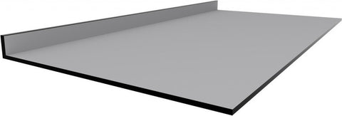 Trespa TopLabPLUS Phenolic Resin Countertop with Backsplash for Lab Bench (3/4-inch thick, Color: Black) - Government Lab Enterprises