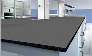 Trespa TopLabPLUS Phenolic Resin Countertop without Backsplash for Lab Bench (3/4-inch thick, Color: Black) - Government Lab Enterprises