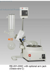 Glassware Set C (vertical low boiling point) for Yamato RE-200/201/400/500/540 Rotary Evaporator - Government Lab Enterprises