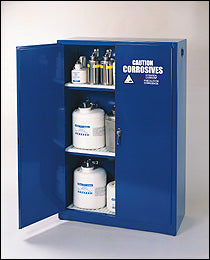 Eagle 60 gallon Acid/Base Storage Cabinet with Manual Close Doors - Government Lab Enterprises