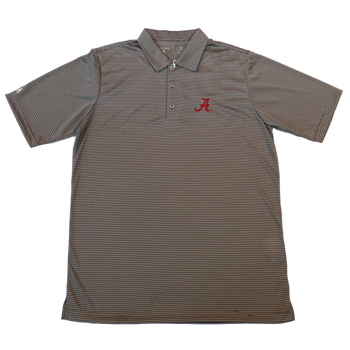 Antigua Quest Alabama A Polo- Steel/ White
