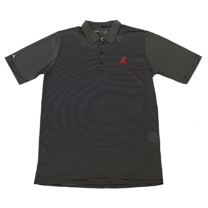 Antigua Quest Alabama A Polo- Black/ White- 101302-185UA