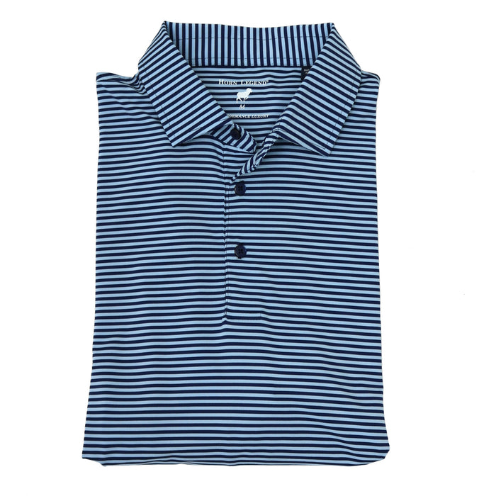 Horn Legend Stripe Polo 1030 Navy/ Ice Blue- HL1030 NVY/ICE