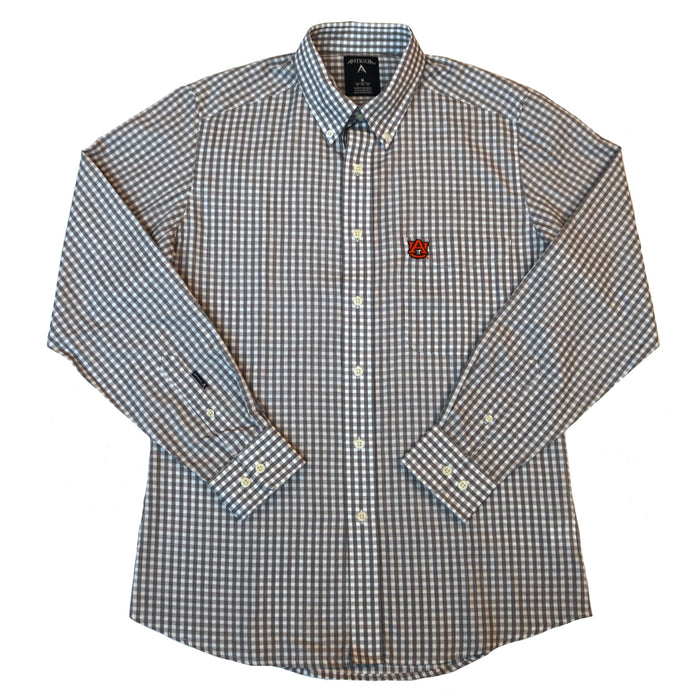 Antigua Auburn Rank Button Down- Navy/ White
