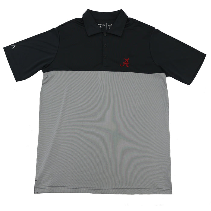 Antigua Tribute Alabama A Polo- Smoke/White- 104199-83C-UA