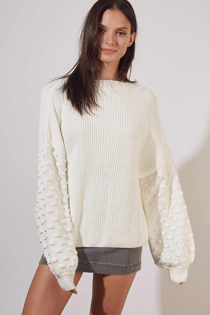 Right On The Dot Sweater- S15115