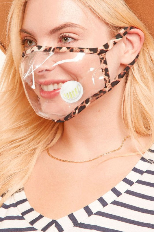 Vented Clear Face Mask