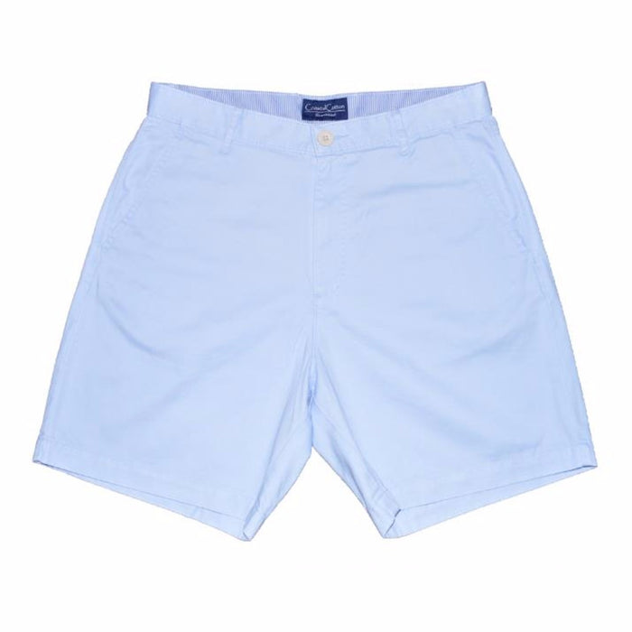 Coastal Cotton Island Short- Sky Blue