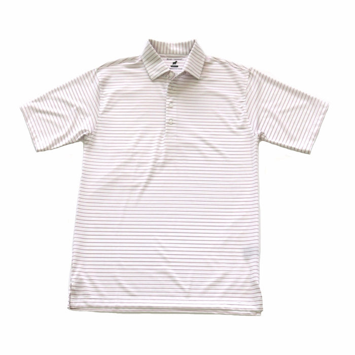 Youth Horn Legend Polo 1018- White/ Crimson