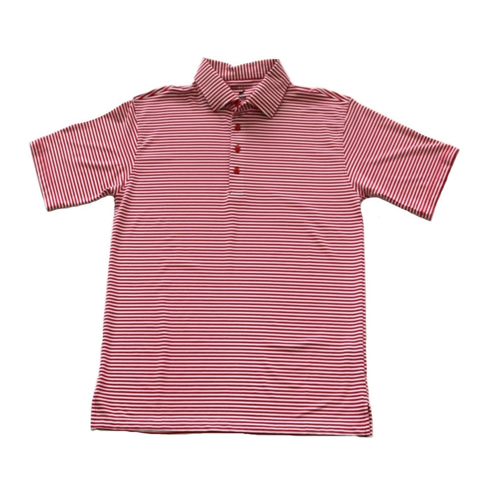 Horn Legend Stripe Polo 1030- Crimson/ White