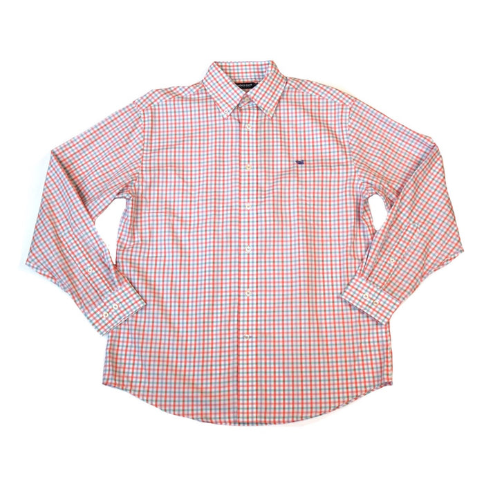 Southern Marsh Evans Gingham- Peach/ Green