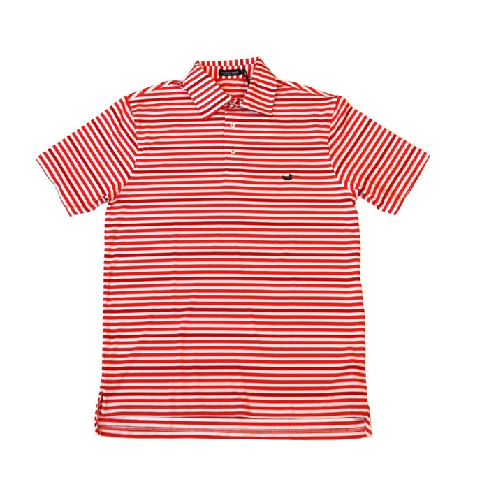 Southern Marsh Newberry Performance Polo- Red/ White