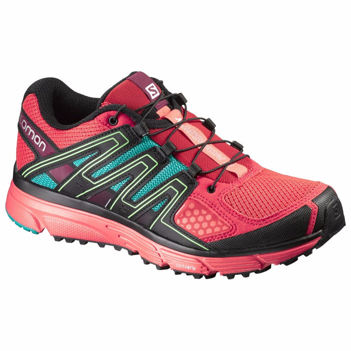 Women's Salomon X Mission 3- Red/Coral/Teal