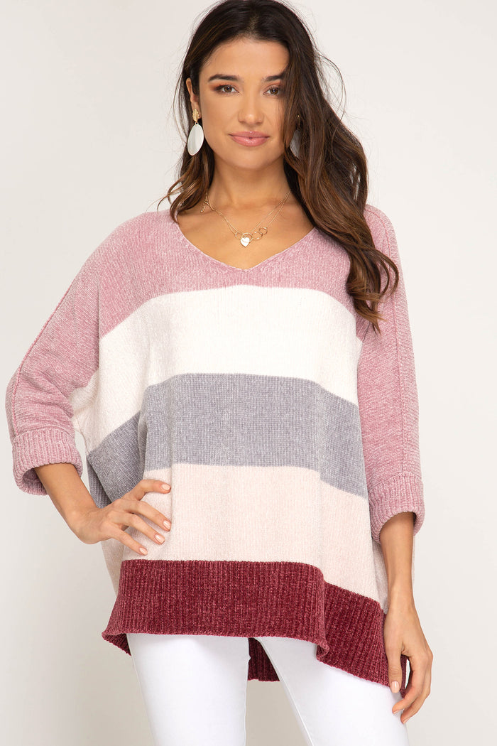 Winter Daze Sweater- Rose/ Berry- SL8817-ROS/BER