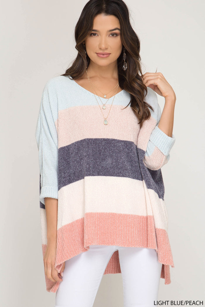 Winter Daze Sweater- Light Blue- SL8817-LT.BLU