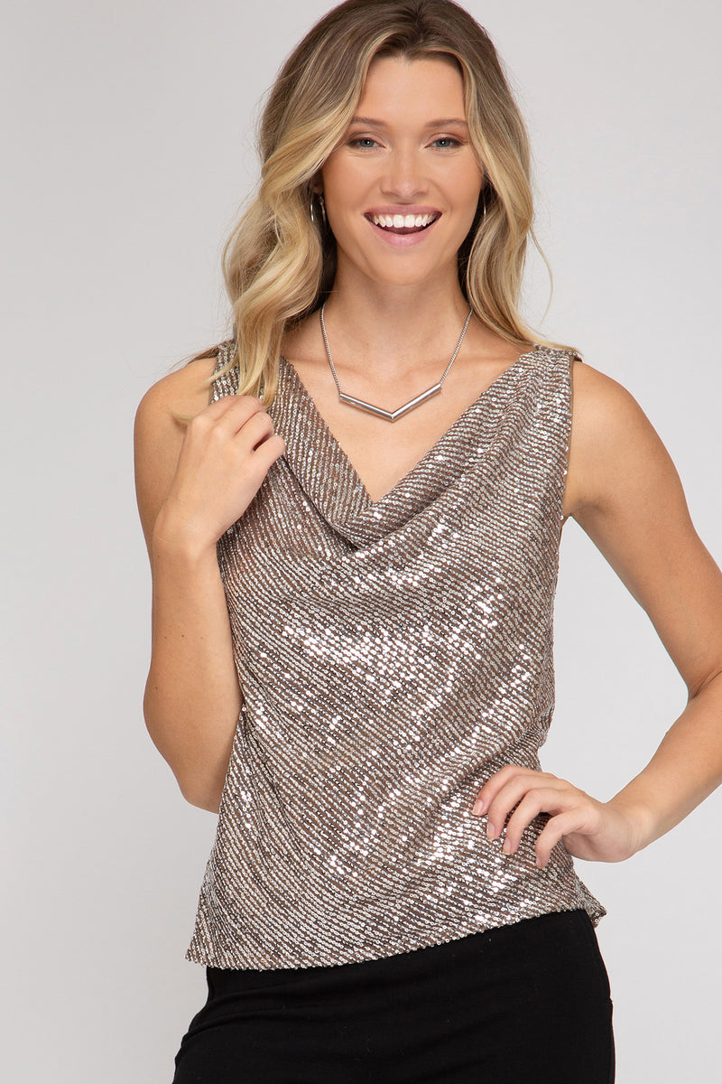 Champagne Dreams Sequin Top