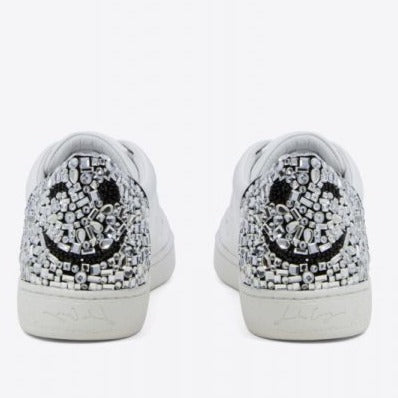 Lola Cruz Smile Crystal Stoned Sneaker