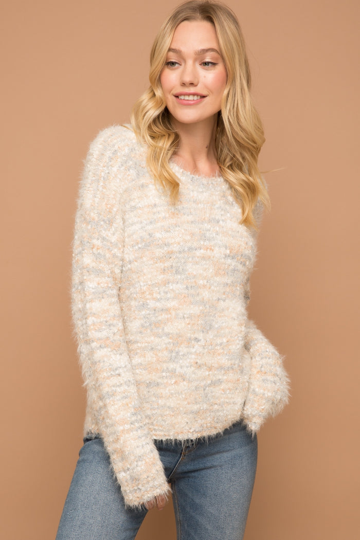 Sprinkles Sweater- Ivory/Sky Blue 7245