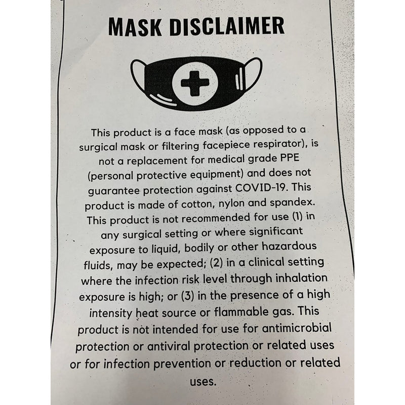 Adult Signature Face Mask