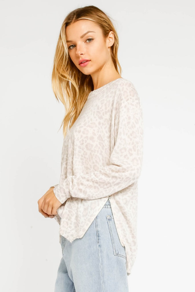 Wild About You Sweater- Blush