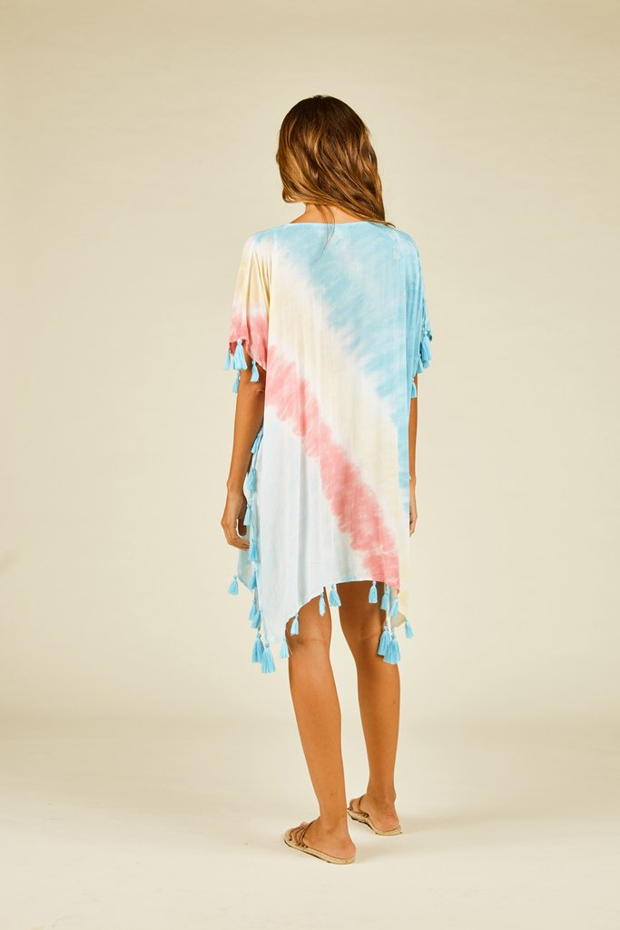 Living The Dream Tie-Dye Cover Up