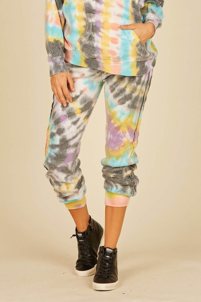 Vintage Havana Multi Swirl Burnout Fleece Jogger
