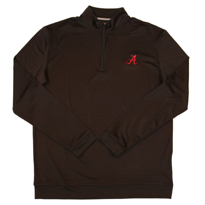 Johnnie-O Flex Alabama 1/4 Zip Pullover- Black- JMKO1421AL-BLK