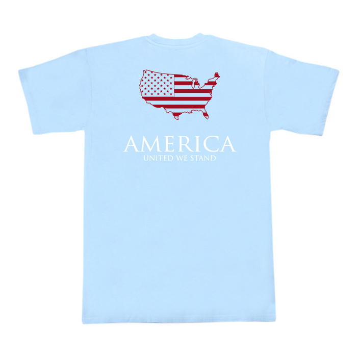 The State Company United We Stand Tee- Sky Blue- UNITED WE STAND- SKY