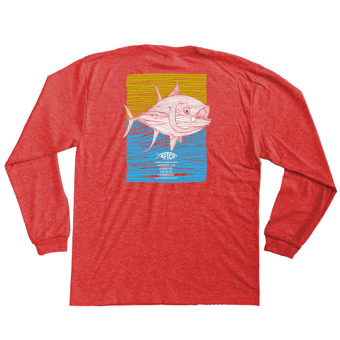 Aftco Youth Tuna Roll L/S T-shirt - BT8213-RED
