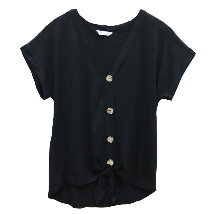 Work To Weekend Top- Black- FRBD-B25601-BLK