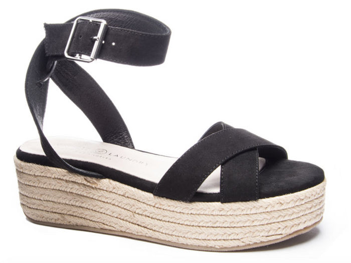 Chinese Laundry Zala Wedge- Black