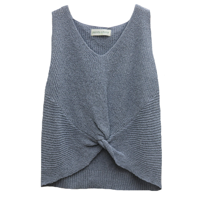 Twisted Tank Sweater- Powder Blue- FC-247-POW