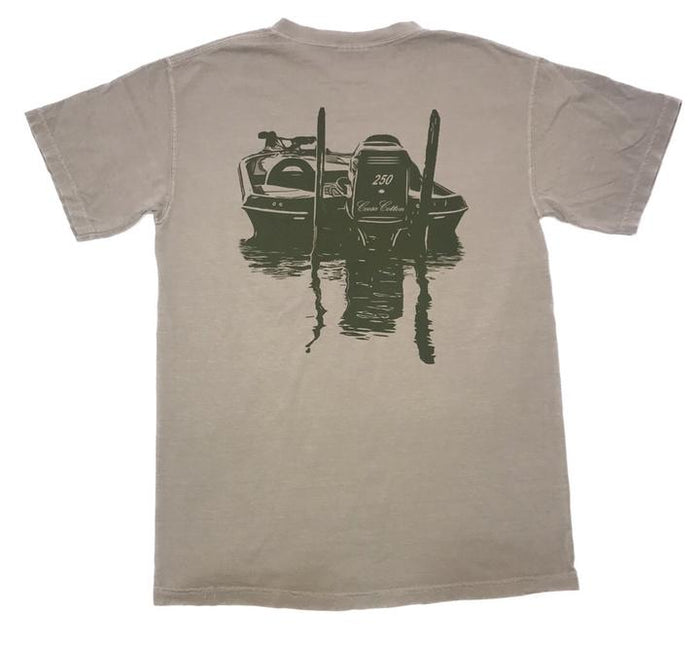 Coosa Cotton First Flight Pocket Tee- Sandstone- COOSA FIRST FLIGHT II-SAN