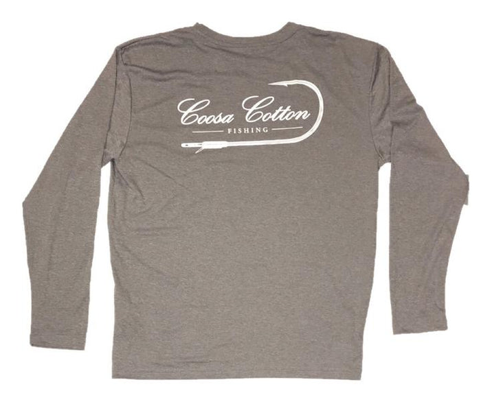 Coosa Cotton Original Longsleeve Tee- Heather Grey- COOSA ORIGINAL L/S-HEA