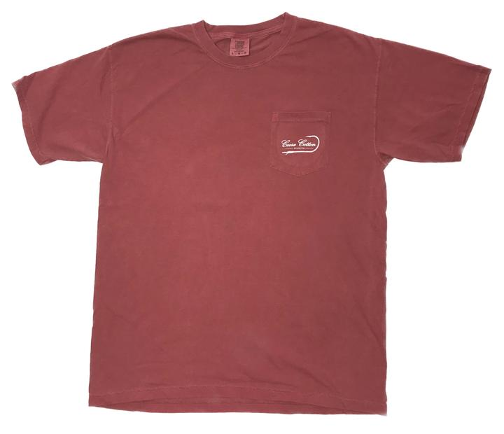 Coosa Cotton State Pocket Tee- Brick- COOSA STATE-BRI