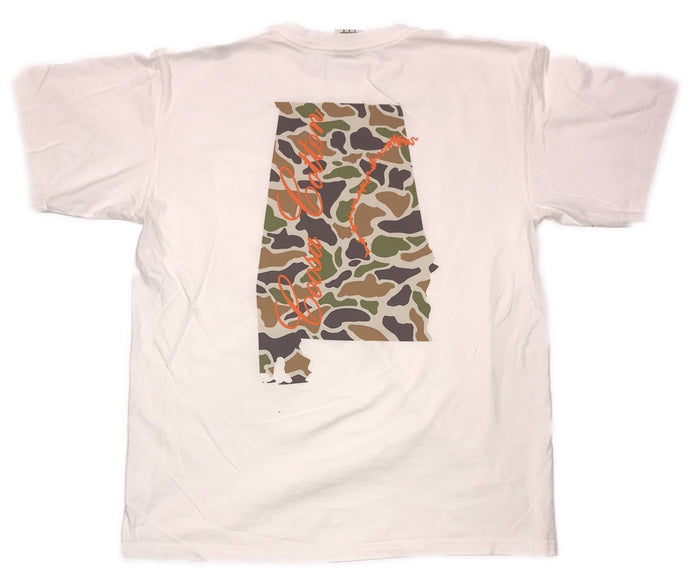 Coosa Cotton State Pocket Tee- Retro Camo- COOSA STATE-RET