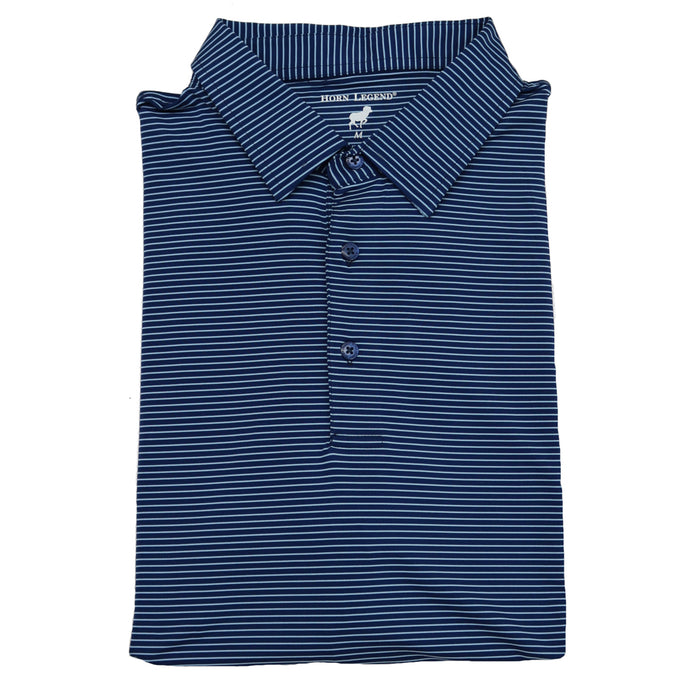 Horn Legend Stripe Polo 1031 Navy/Ice Blue- HL1031TBP- NVY/ICE