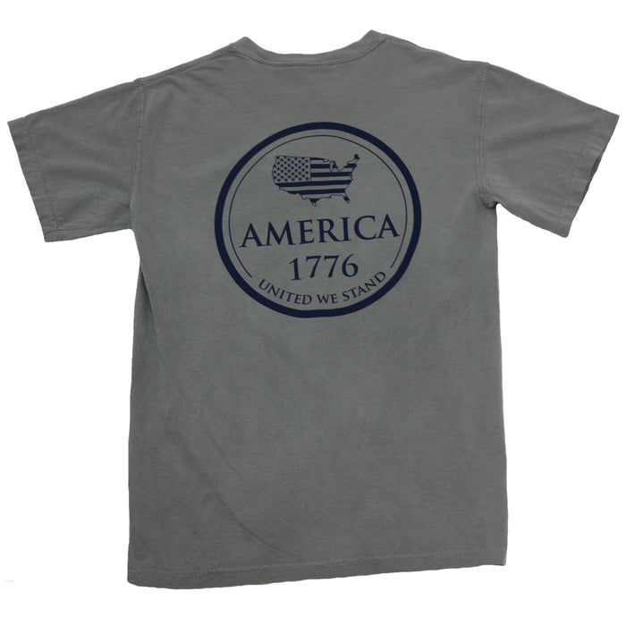 The State Company 1776 Tee- Grey- 1776 S/S- GRY