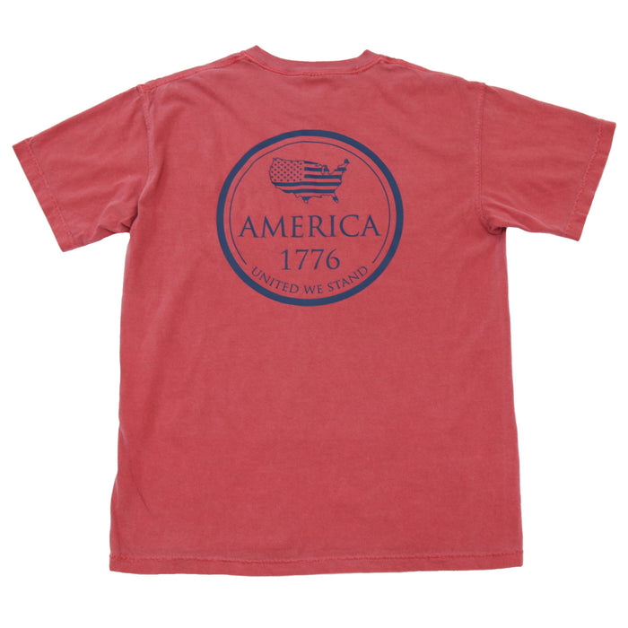 The State Company 1776 Tee- Crimson- 1776 S/S- CRI