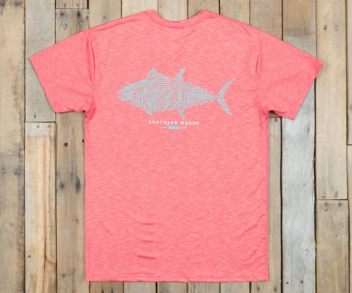 Southern Marsh FieldTec Performance Tee- Tuna