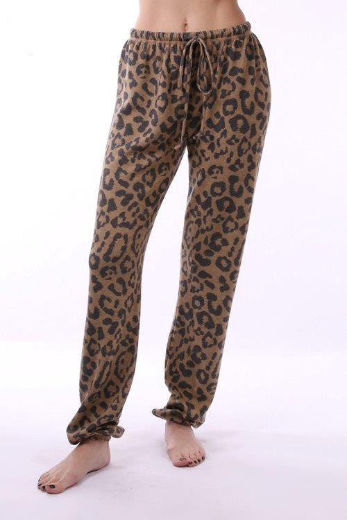 Marled Leopard Jogger Pant- GB13