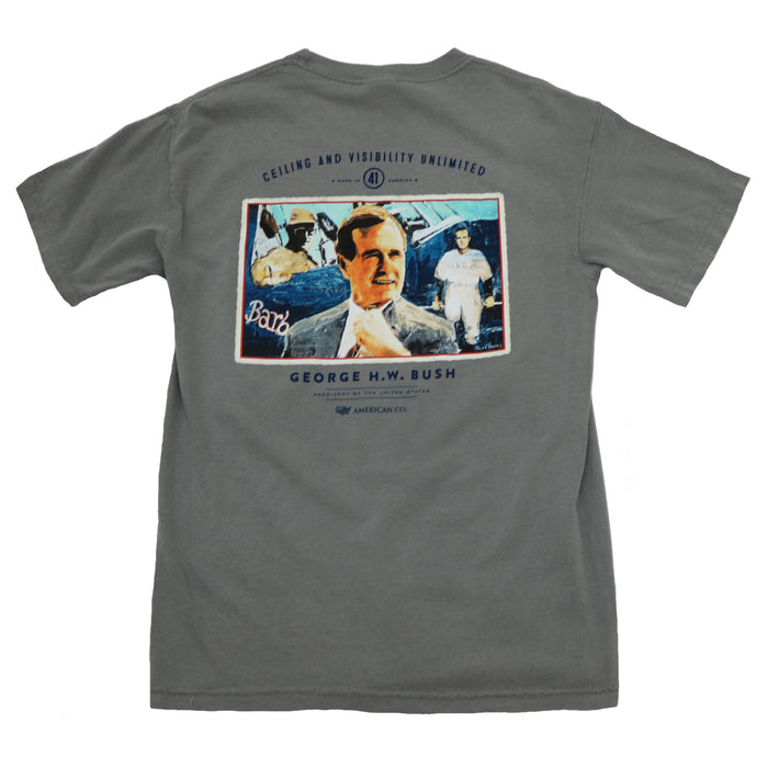 The State Company George H.W. Bush Tee- Grey- GEORGE H.W. BUSH- GRY