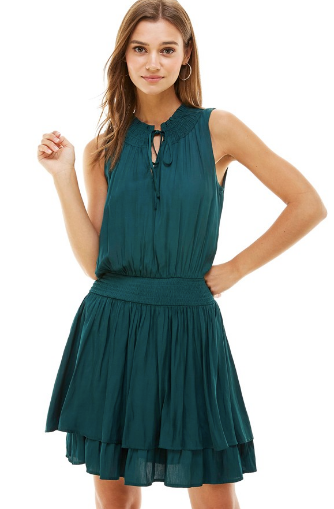 Gentle Breeze Dress- Hunter Green- CD8726