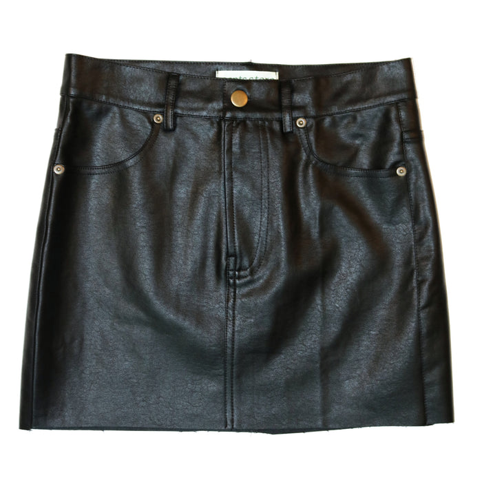 Belt Approved Leather Skirt   - 28-374LSH-BLK
