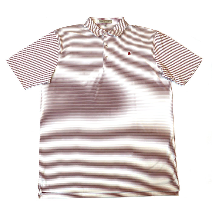 The State Company Alabama Dogwood Polo- AL DOGWOOD STRIPE-CRI/WHT