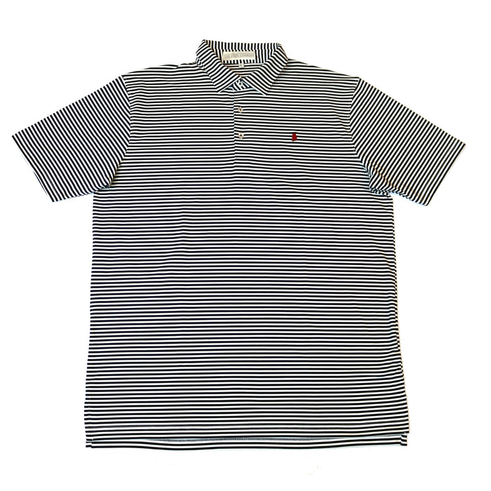 The State Company Alabama Stripe Polo- AL CLASSIC STRIPE-BLK/WHT