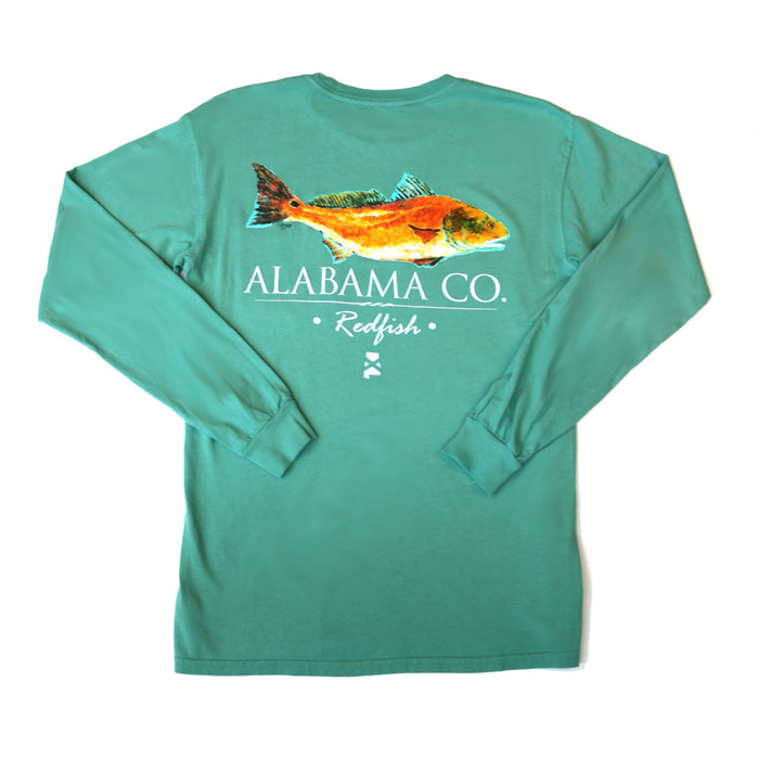 The State Company AL Redfish T-shirt  - AL REDFISH-L/S-SEA