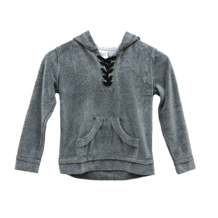 Girl's Lace Up Hoodie - KT1117-CHA